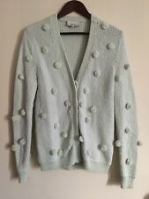 3.1 Phillip Lim Mint Green Pom Pom Cardigan Sweater Size Small