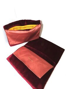 Gucci Sunglasses Limited Edition Hollywood  Velvet X-Large Sunglass Case Pouch