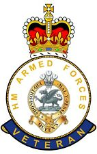 The Queens Regiment HM Armed Forces Veterans Clear Cling Sticker