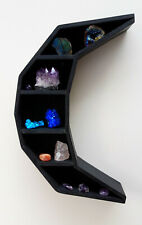 Wood Wooden moon Curiosity Floating cresent Crystal Storage Shelf Shelving