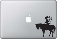 """Disney Tinker Bell with unicorn Nice Silhouette Decal Sticker car truck 6"""" Black"""
