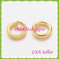 4mm 50pcs 20gauge BRASS Gold Plated Open Jump Rings Findings Earrings Necklace