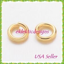 4mm 100pcs 20gauge BRASS Gold Plated Open Jump Rings Findings Earrings Necklace
