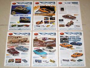 TRAX Catalogue 2010 Complete Set of 6 Model Car Brochures - Holden Ford Chrysler