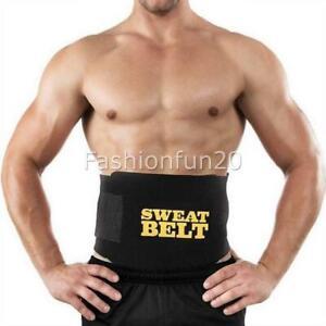 AU Men Waist Trainer Sauna Sweat Belt Tummy Control Girdle Slimming Body Shaper