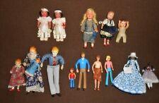 Vintage & Antique Dollhouse Miniature Dolls Lot, 15 Items