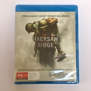 Hacksaw Ridge Blu Ray SEALED Andrew Garfield Directed by Mel Gibson 2016