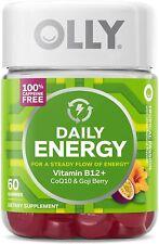 OLLY Daily Energy Gummies with B12 CoQ10 & Goji Berry, Caffeine Free 60 Ct