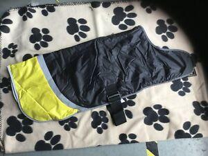 Hi Viz Yellow Classic Waterproof Warm Fur Lined Dog Coat