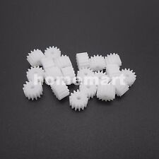 20PCS 0.5M Plastic Spur Gear 0.5 Modulus T=14 Aperture 2mm 14T2A 14 Teeth 5X8MM