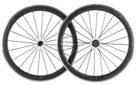 Superteam 50mm Clincher Carbon Wheelset Aluminum Braking Surface Road Bike Wheel