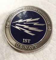 U.S. Navy INFORMATION SYSTEM TECHNICIAN IST Engravable Challenge Coin
