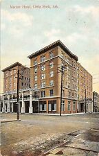Arkansas postcard Little Rock Marion Hotel street scene