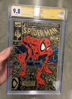 SPIDER-MAN #1 GOLD EDITION CGC 9.8 SS Todd McFarlane MINT CLASSIC MARVEL BEAUTY