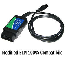MODIFIED ELM OBD2 CAN ALFA FIAT DIAGNOSTIC LEAD FOR FIATECUSCAN MULTIECUSCAN