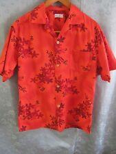 Vintage Hawaiian Aloha Shirt Size Medium Horizontal Button Holes Loop Collar
