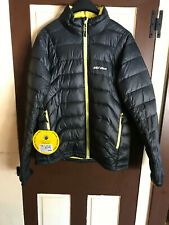 Ski-Doo Snowmobile Mens Packable Jacket Black/Hi-Vis Yellow 4407690626 Medium