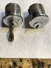 Medeco Mortise Cylinders Level 1 Keyed Alike, One Key. 626 Finish