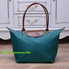New Longchamp Le Pliage Nylon Tote Handbag Peacock blue bag Large L
