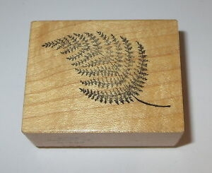 Fern Frond Rubber Stamp PSX Leaves Plants Retired Wood Mounted Rare Design