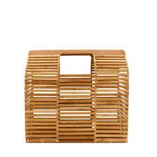Rouven/THOR 26 Architecture BAMBOO Box Bag/Nature Wood/bambù Borsa Cesto