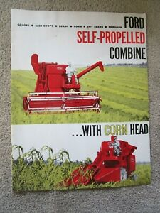 Original Adv Brochure for FORD Self Propelled Combine, Beautiful