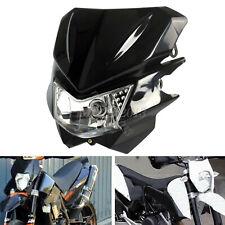 Black Motorcycle Hi/Lo Beam Fog Light Headlight 12V For Yamaha Street Fighter