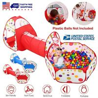 3 in 1 Play Tent Kids Toddlers Tunnel Set Pop Up Tent Children Baby  Playhouse