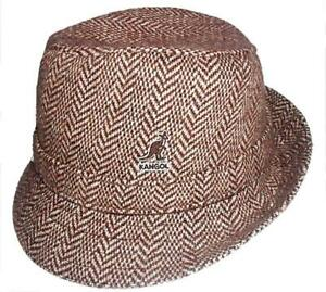 Kangol Wool Herringbone Gaffer Trilby Fedora hat cap
