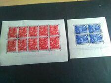 Nederland 402/403B legioenblokken onebruikt met plakkerrest