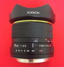 Rokinon 8mm f/3.5 Aspherical Fisheye Lens for Canon DSLR EOS Cameras * FREE S&H
