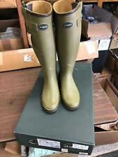 Le Chameau Chasseur Leather Lined Euro 40 Vert Euro 40 US 8 Green - NIB