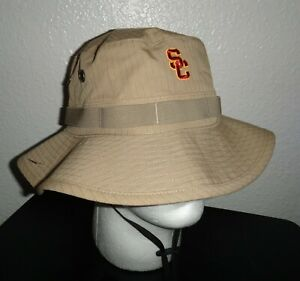 NEW MENS L/XL NIKE USC TROJANS SOUTHERN CAL TEAM ISSUE BUCKET HAT BOONIE PLAYER