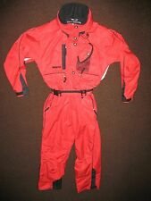 Obermeyer Women's Size 8 Snowsuit Ski Snow Suit 1 Piece Belted Red Black