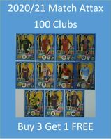 2020/21 Match Attax UEFA Cards - 100 Clubs Buy 3 Get 1 FREE Mbappe Messi Haaland
