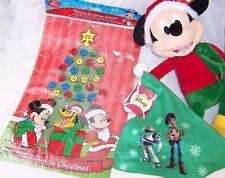 "Mickey Mouse Christmas Countdown Calendar,17"" Christmas Plush,Toy Story Cap"