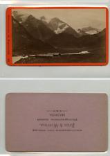 Baldi et Würthle, Autriche, Wasserfallboden CDV vintage albumen carte de visite,