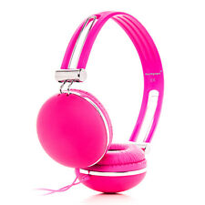 Over-Ear Childs Kids Girls Pink DJ Headphones Earphones MP3 MP4 DVD PC TV iPod