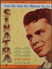 1944 Come Out Wherever You Are Sheet Music Frank Sinatra Cahn & Styne