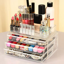 Cosmetic Make Up Display Jewellery Organiser Clear Acrylic Storage Stand Draw UK