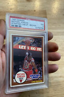 Michael Jordan Starting Lineup PSA 7 Kenner Card 1990 RARE BROWN INVESTMENT GIFT