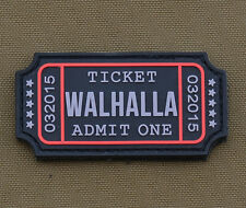 "PVC / Rubber Patch ""Ticket Walhalla"" with VELCRO® brand hook"