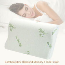 Contour Bamboo Memory Foam Comfort Pillow Sleep Ergonomic Orthopedic Design US