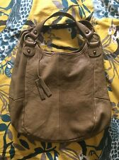 Anthropologie Tano Leather Purse Tote - Olive Green