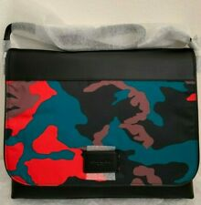 NWT COACH CHARLES MESSENGER  BAG WITH CAMO F67946 $395 RED MULTI