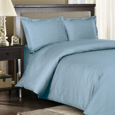 300 Tc King/Cal King Blue Sateen Striped 8 Pc Beds In A Bag
