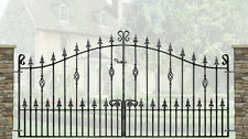 Wrought IronOrnate Metal Garden Driveway Gates-10FT(3048mm) opening-WI-C