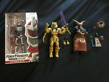 Hasbro power rangers lightning collection Mighty Morphin Zedd Rita Goldar lot