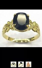 BEAUTIFUL SAPPHIRE RING SIZE N I ADORE THIS RING JUST SO DIFFERENT