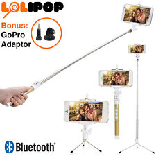 Selfie Stick with Bluetooth Wireless Remote - Bonus GoPro Adaptor and Tripod
